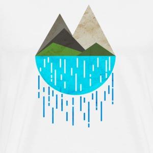 MONTAGNE - T-shirt premium pour hommes