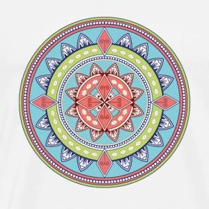 mandala coloured lightblue plus #4 - Men's Premium T-Shirt