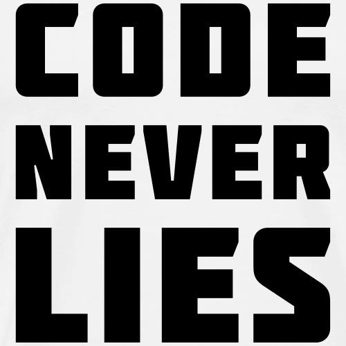Code Never Lies - Men's Premium T-Shirt