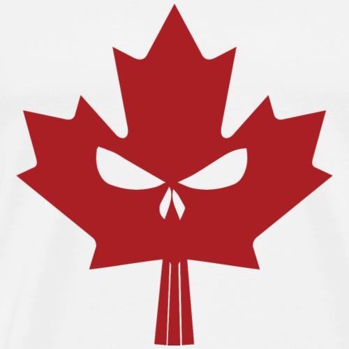 Canadian Maple Skull Red - Men's Premium T-Shirt