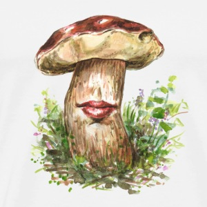 Kiss me! / mushroom / fungi / surrealism - Men's Premium T-Shirt
