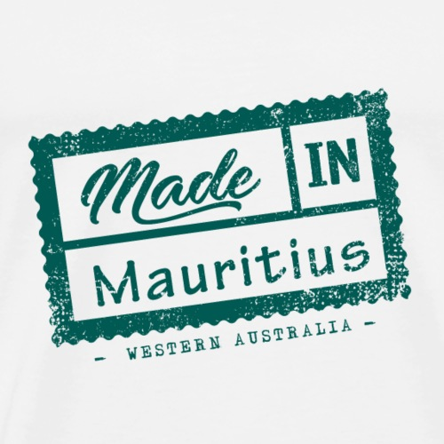 Made In Mauritius Stamp - Western Australia - Men's Premium T-Shirt