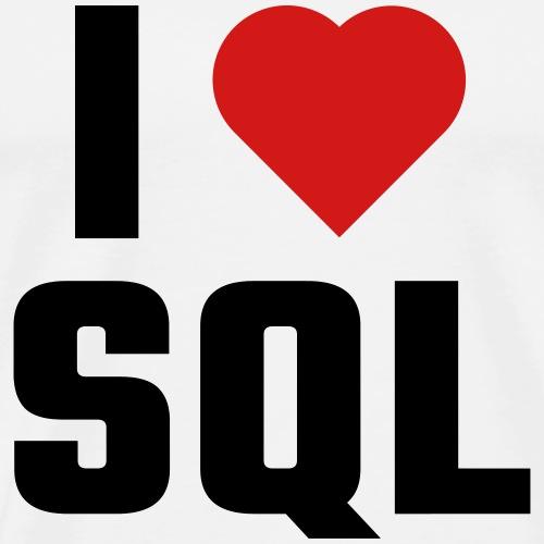I Love SQL - Men's Premium T-Shirt
