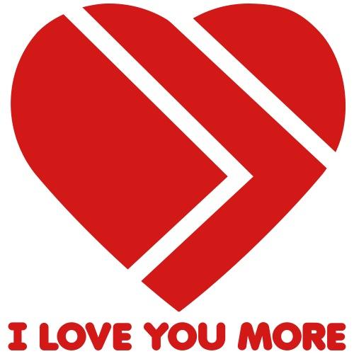 I Love You More Heart Logo - Men's Premium T-Shirt