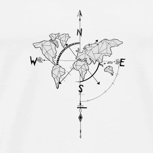 world maps - Men's Premium T-Shirt