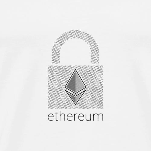 Ethereum Lock in Black - Men's Premium T-Shirt