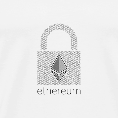 Ethereum Lock in Black - Men's Premium T-Shirt
