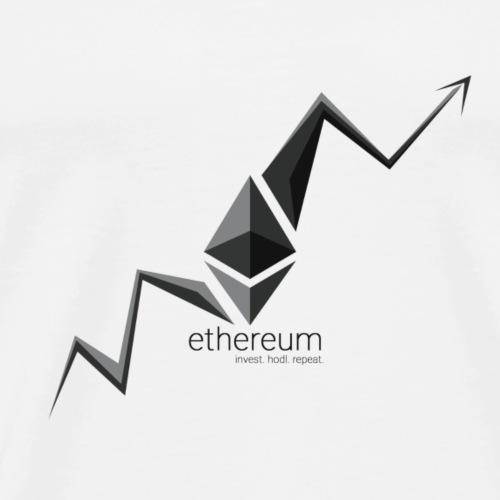 Invest Ethereum Hodl Repeat - Men's Premium T-Shirt