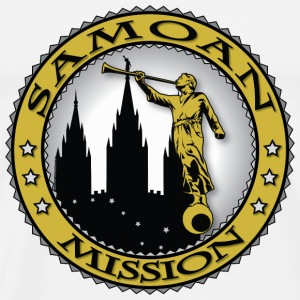 Samoan Mission - LDS Mission Classic Seal Gold - Men's Premium T-Shirt