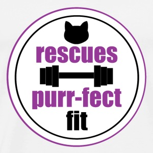 Rescues are the purr-fect fit in pink - Men's Premium T-Shirt