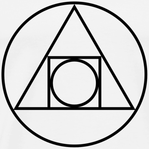 Alchemy Philosopher's Stone Symbol Sacred Geometry - Men's Premium T-Shirt