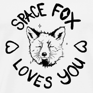 Space Fox Loves You - Men's Premium T-Shirt