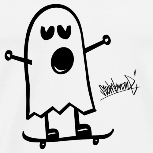 Funny Ghost Steinkrone draw - Men's Premium T-Shirt