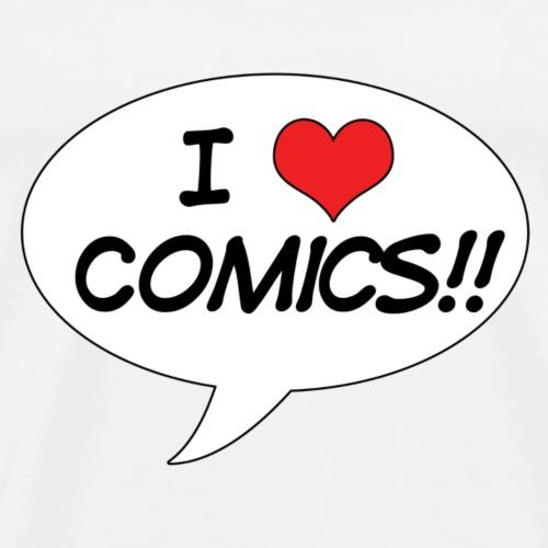 I <3 Comics! - Men's Premium T-Shirt