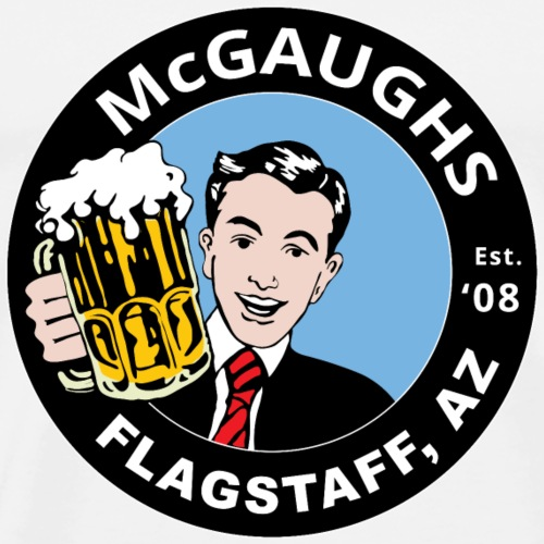 MCGAUGHS FLAGSTAFF Beer Guy - Men's Premium T-Shirt