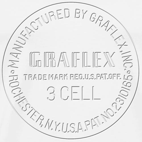 Graflex clean Stamp black or white - Men's Premium T-Shirt