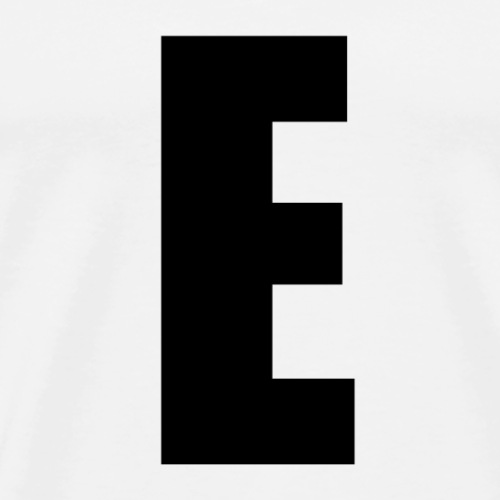 E Meme (Black Lettering) - Men's Premium T-Shirt