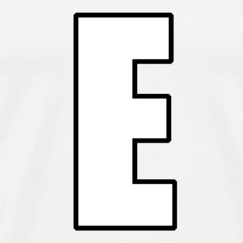 E Meme (White lettering with outline) - Men's Premium T-Shirt