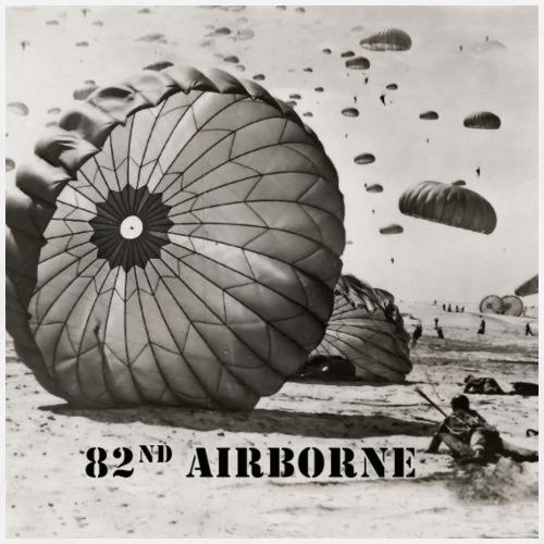 82nd Airborne Gifts - Paratrooper Landing - Men's Premium T-Shirt