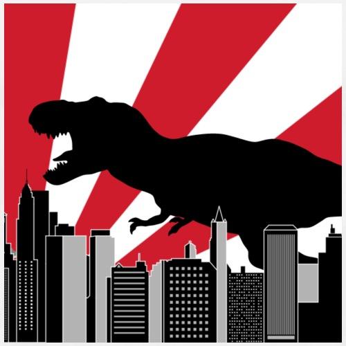 Godzilla Trex in Tokyo Japan - Men's Premium T-Shirt