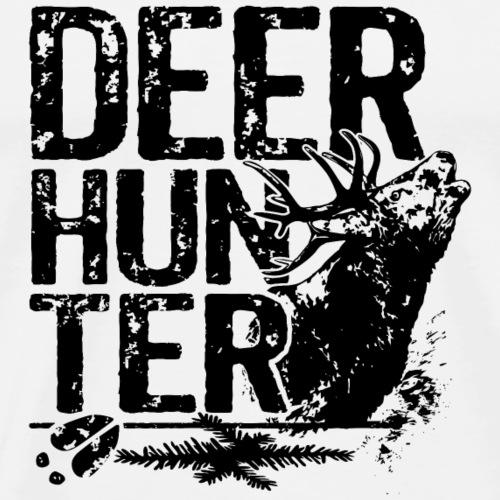 Huntershirt Deer Hunter black roebuck - Men's Premium T-Shirt