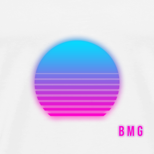 Synthwave Sun | BMG - Men's Premium T-Shirt