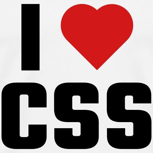 I Love CSS - Men's Premium T-Shirt