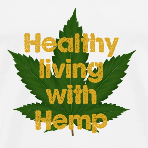 Healthy living with Hemp - Men's Premium T-Shirt