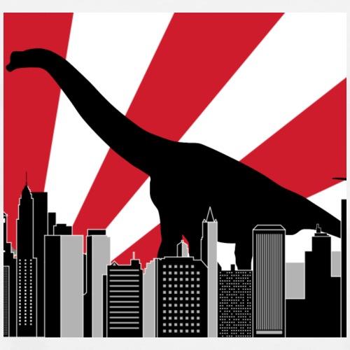 Brachiosaurus Tokyo Japan Dinosaur in the city - Men's Premium T-Shirt