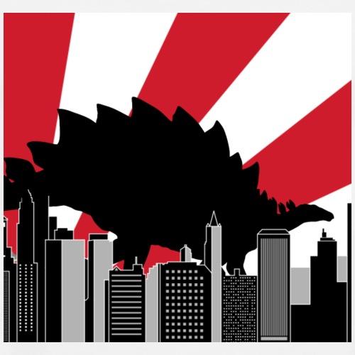 Stegosaurus Tokyo Japan city dinosaur - Men's Premium T-Shirt