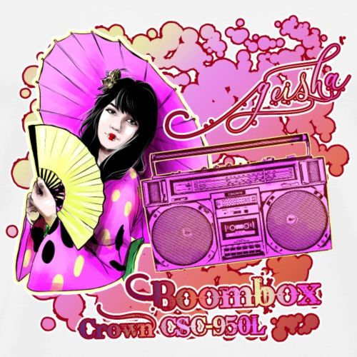 Boombox CROWN CSC 950L with Geisha Japan - Men's Premium T-Shirt