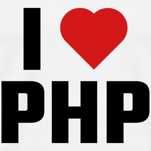 I Love PHP - Men's Premium T-Shirt