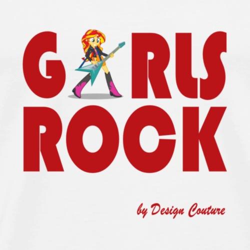 GIRLS ROCK RED - Men's Premium T-Shirt