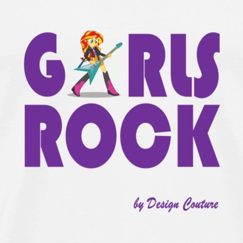 GIRLS ROCK PURPLE - Men's Premium T-Shirt