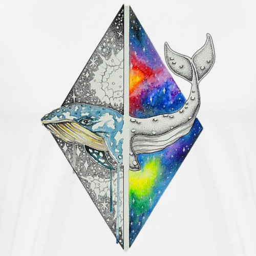 Multidimensional Whale - Men's Premium T-Shirt