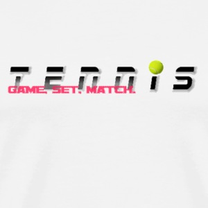 Tennis Game, Set, Match - Men's Premium T-Shirt