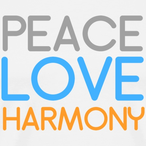 Peace Love Harmony - Men's Premium T-Shirt
