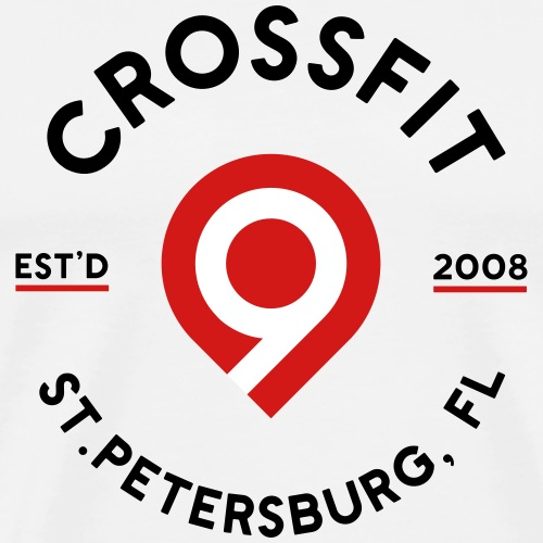 CrossFit9 Established 2008 (Black) - Men's Premium T-Shirt