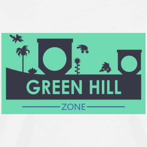 sonic mania green hill - Men's Premium T-Shirt
