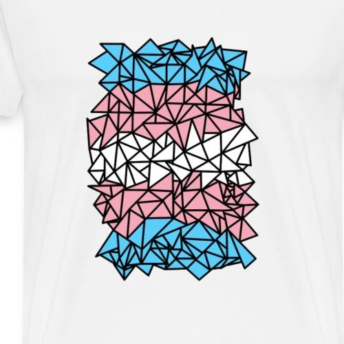 Crystallized Transgender Flag - Men's Premium T-Shirt