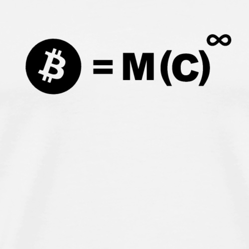 B = M(C) (Bitcoin) - Men's Premium T-Shirt