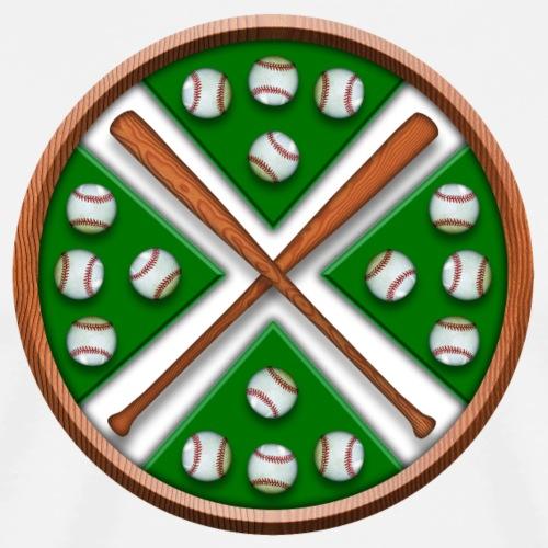 Crossing baseball bats design - Men's Premium T-Shirt