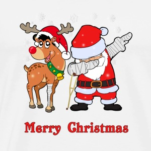 Dabbing Santa and his reindeer injured ;) - Men's Premium T-Shirt