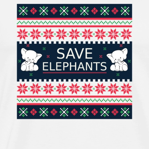 Save Elephants Ugly Christmas Nature Planet Gift - Men's Premium T-Shirt