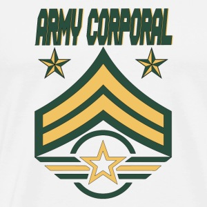 Army Corporal Army stars Army Bars Army Wings - Men's Premium T-Shirt