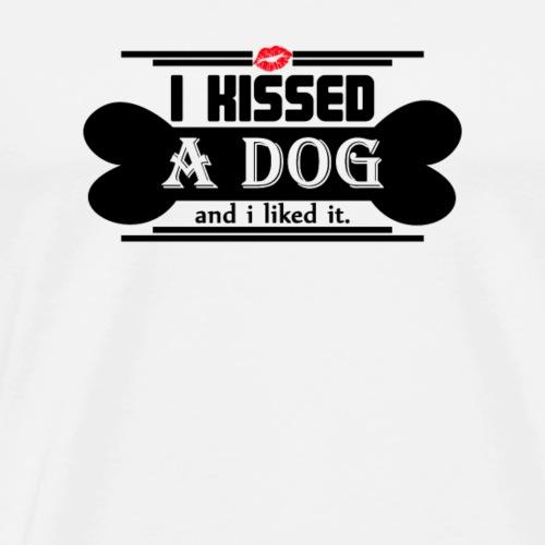 i kissed a dog and i liked it black - Men's Premium T-Shirt