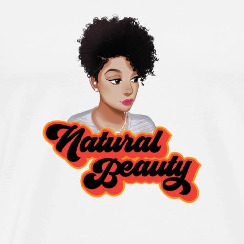 Curly Natural Afro Beauty - Men's Premium T-Shirt