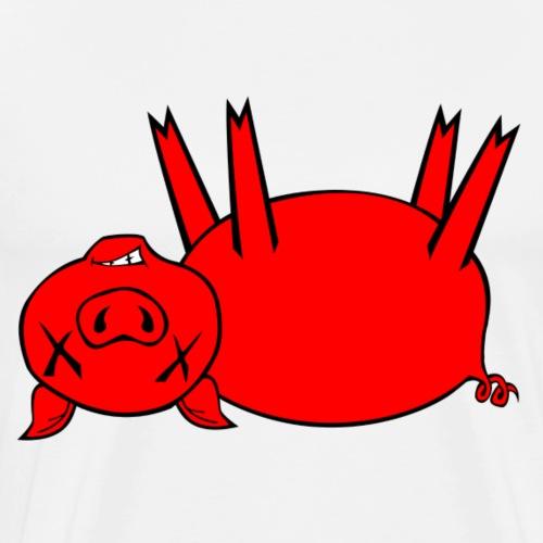 Plain Dead Pig - Red - Men's Premium T-Shirt