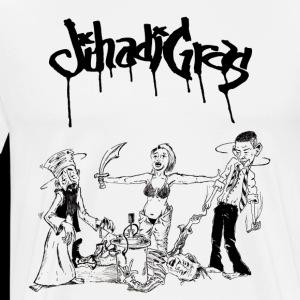 JihadisGras Logo (Black) with Gras - Men's Premium T-Shirt