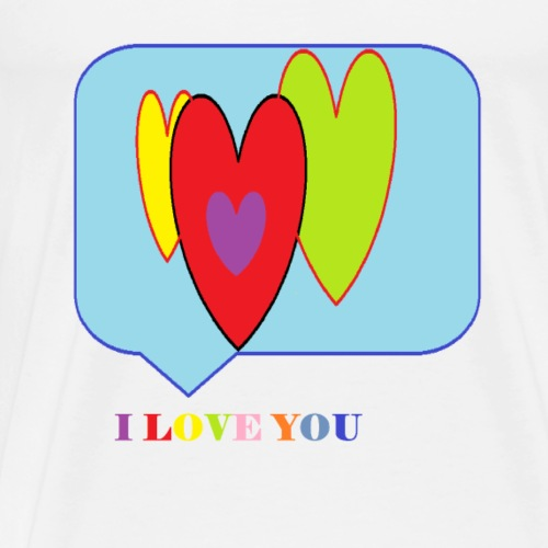 I LOVE YOU-Hears - Men's Premium T-Shirt